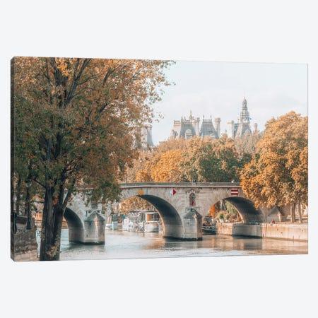 Paris In Autumn Canvas Print #MGD29} by Magdalena Martin Art Print