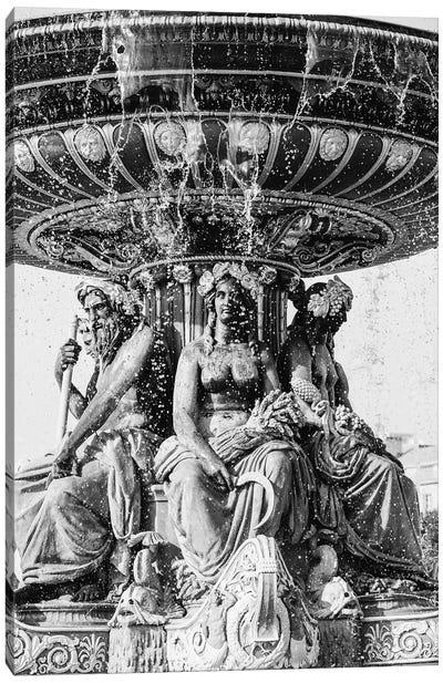 Fontaines De La Concorde Canvas Art Print