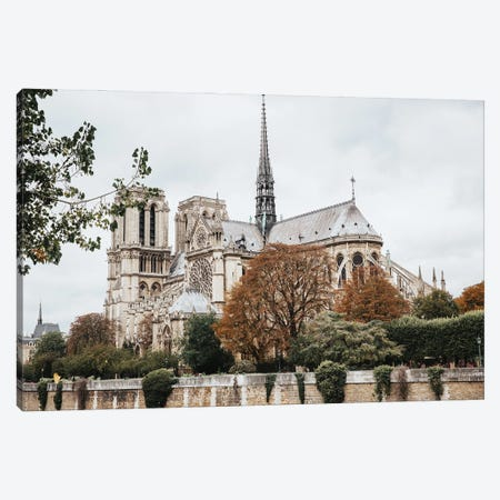 Notre Dame Canvas Print #MGD30} by Magdalena Martin Canvas Wall Art
