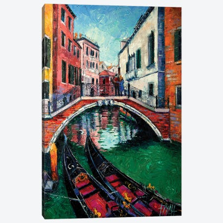 Venice Romance Canvas Print #MGE101} by Mona Edulesco Canvas Wall Art