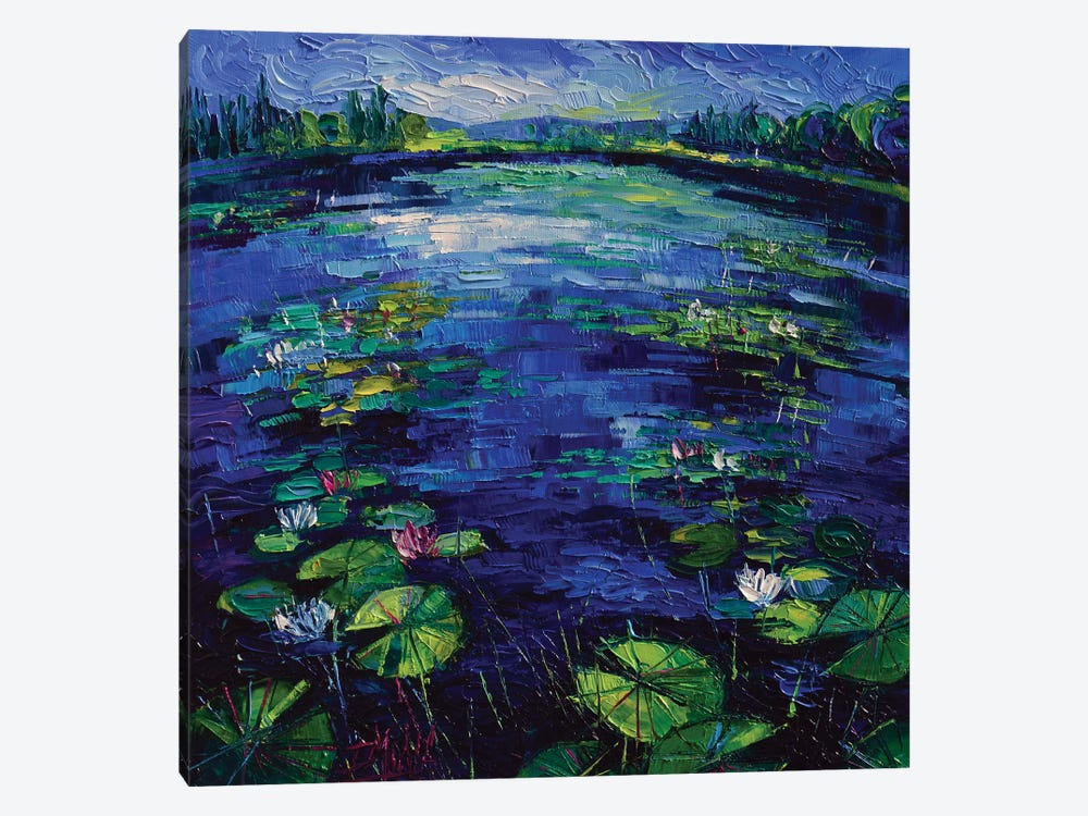 Water Lilies Magic by Mona Edulesco 1-piece Canvas Art