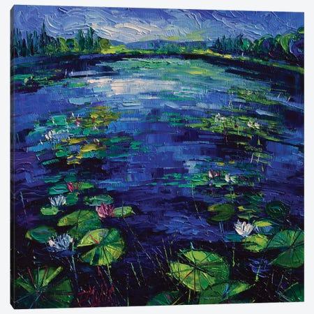 Water Lilies Magic Canvas Print #MGE104} by Mona Edulesco Canvas Print