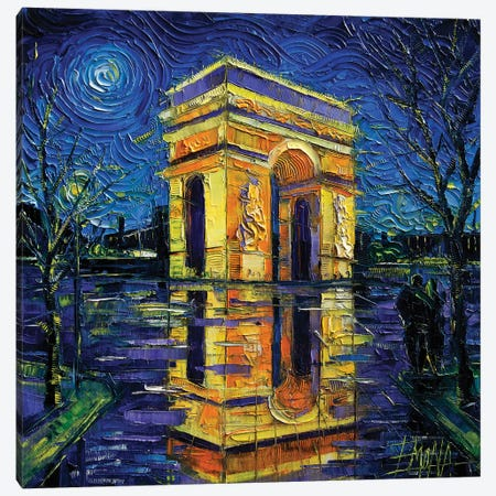 Arc de Triomphe, Paris Canvas Print #MGE107} by Mona Edulesco Canvas Print