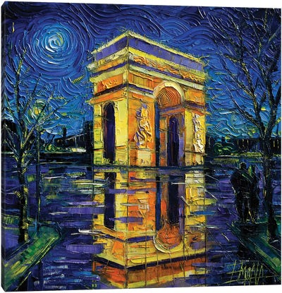 Arc de Triomphe, Paris Canvas Art Print