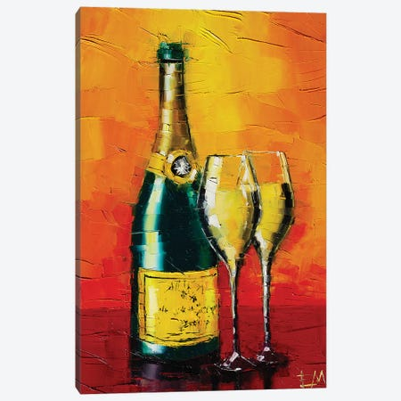 Happy New Year Canvas Print #MGE109} by Mona Edulesco Canvas Artwork