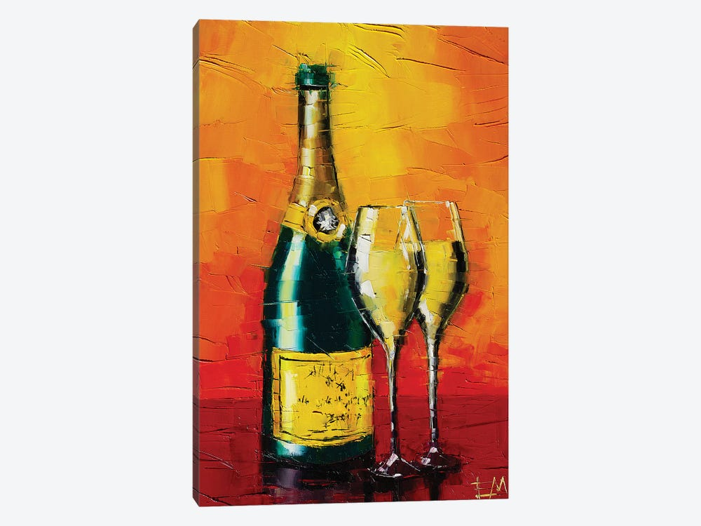 Happy New Year by Mona Edulesco 1-piece Canvas Art Print