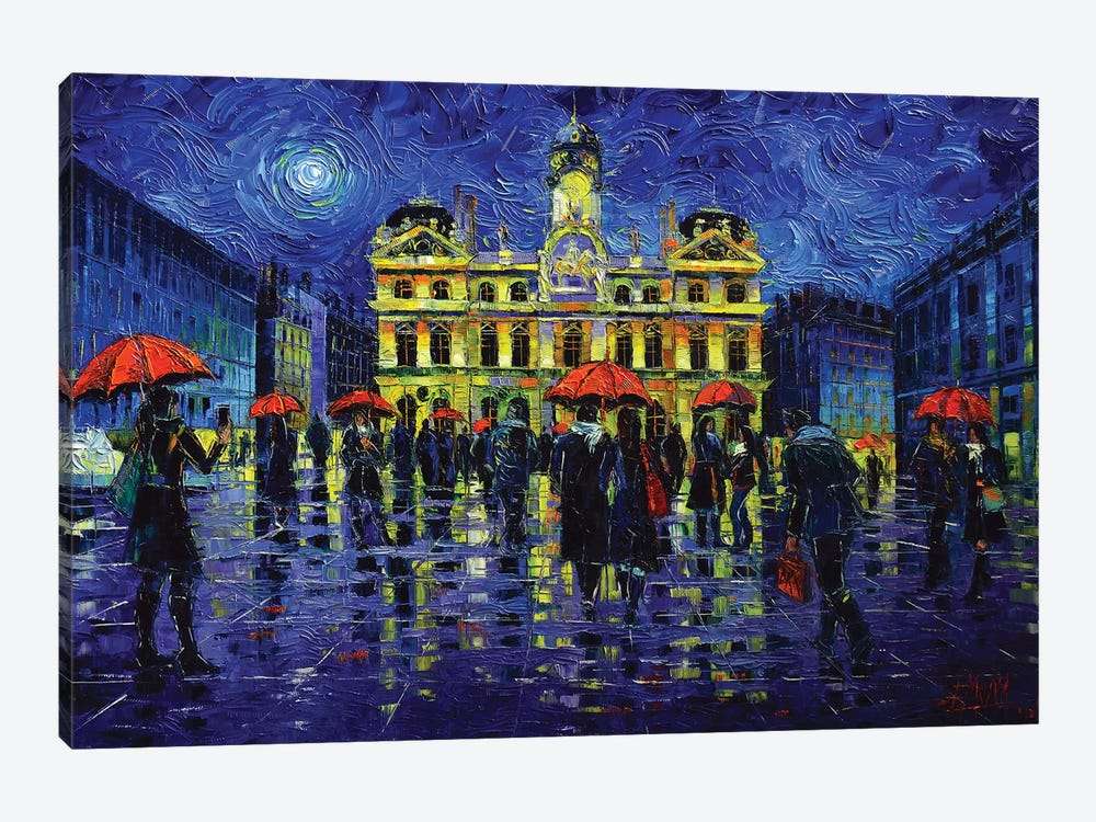 Nightfall Over Lyon by Mona Edulesco 1-piece Art Print