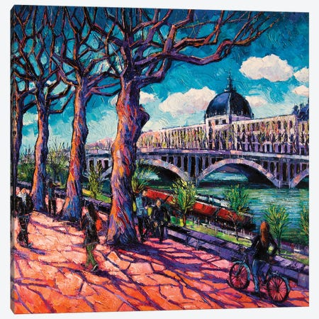 Promenade Along The Rhône Canvas Print #MGE112} by Mona Edulesco Art Print