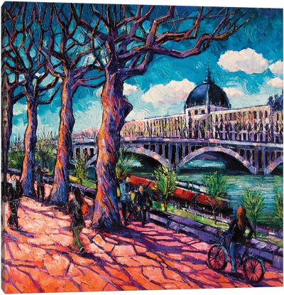 Promenade Along The Rhône Canvas Art Print