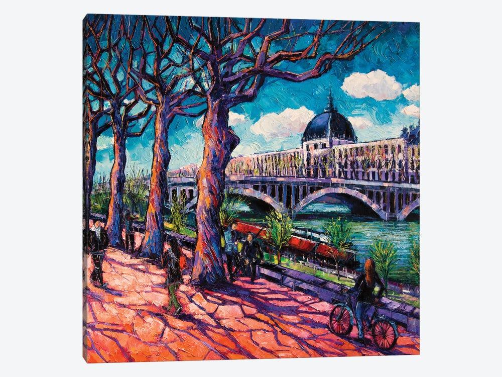 Promenade Along The Rhône by Mona Edulesco 1-piece Art Print