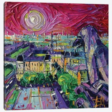 Notre Dame de Paris Gargoyle Canvas Print #MGE114} by Mona Edulesco Canvas Wall Art
