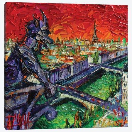 Paris Gargoyle Contemplation 3-Piece Canvas #MGE115} by Mona Edulesco Canvas Wall Art