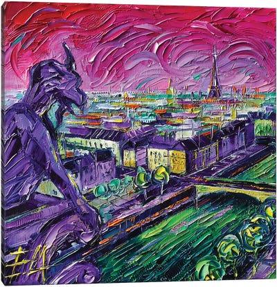 Paris View with Gargoyles I Canvas Art Print