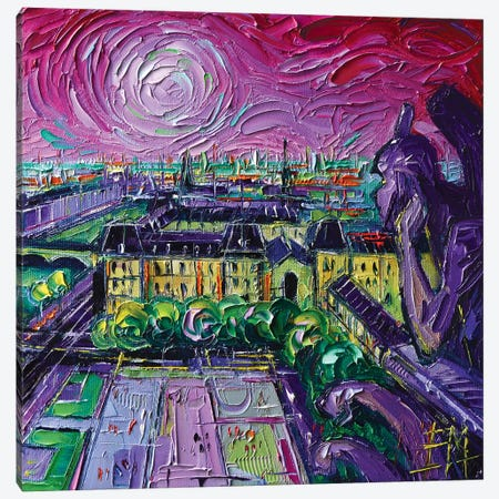 Paris View with Gargoyles II 3-Piece Canvas #MGE117} by Mona Edulesco Canvas Wall Art