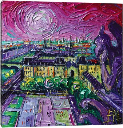 Paris View with Gargoyles II Canvas Art Print