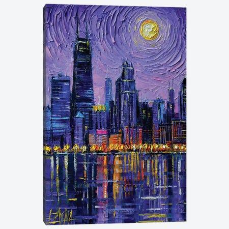 Chicago Skyline Canvas Print #MGE120} by Mona Edulesco Canvas Wall Art