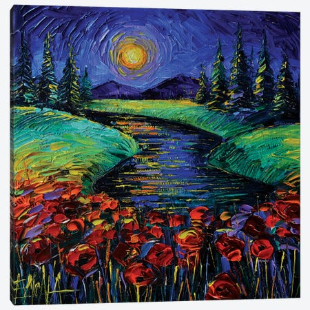 Magic Night Canvas Print #MGE121} by Mona Edulesco Canvas Art