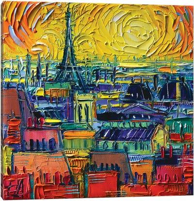 Paris Rooftops View From Pompidou Canvas Art Print
