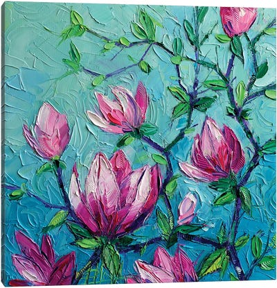 Magnolias Canvas Art Print