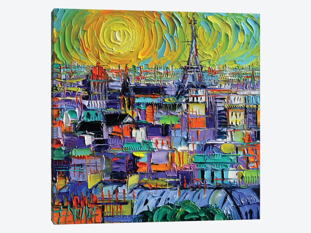Paris View From Notre Dame Towers by Mona Edulesco 1-piece Canvas Art
