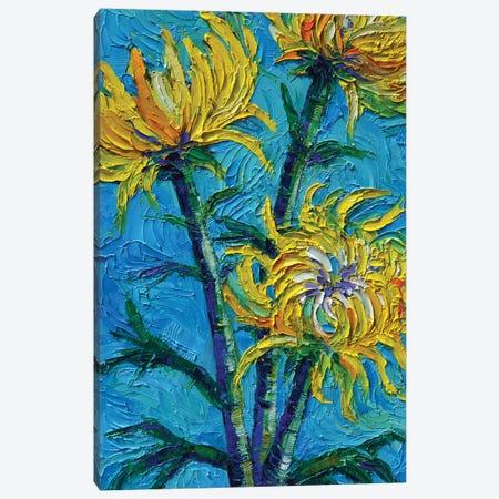 Chrysantemums Bouquet Canvas Print #MGE128} by Mona Edulesco Canvas Wall Art