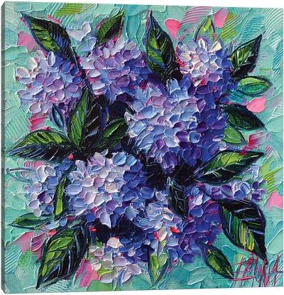 Hydrangeas Love Canvas Art Print