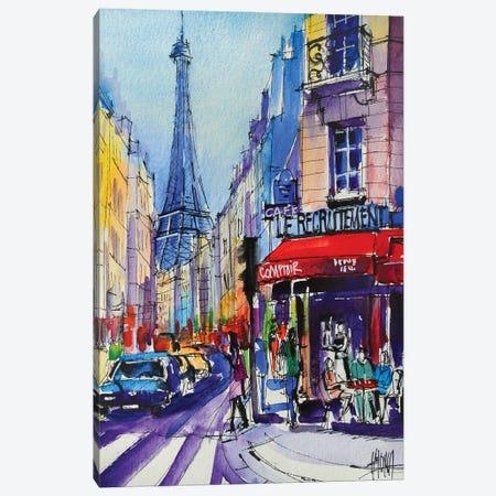 Paris Rue Saint Dominique Canvas Print #MGE134} by Mona Edulesco Canvas Artwork