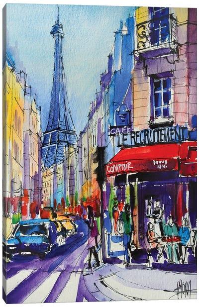 Paris Rue Saint Dominique Canvas Art Print