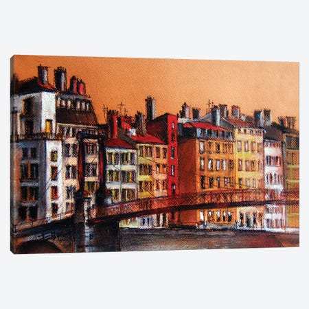 Colors Of Lyon I Canvas Print #MGE17} by Mona Edulesco Canvas Art