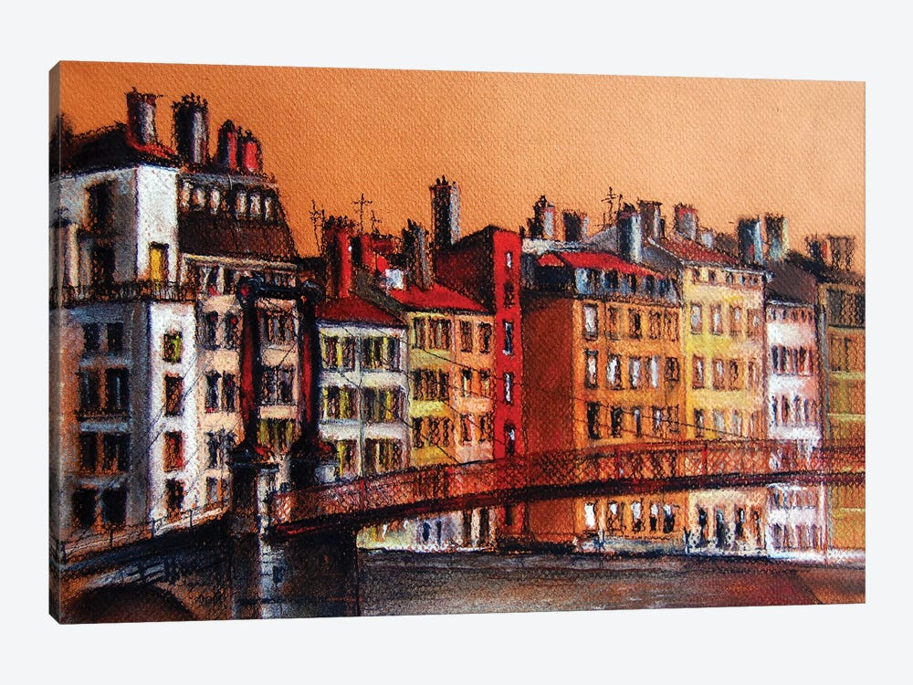 Colors Of Lyon I by Mona Edulesco 1-piece Art Print