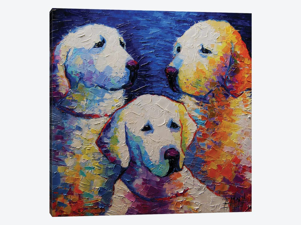 Family Portrait by Mona Edulesco 1-piece Canvas Print