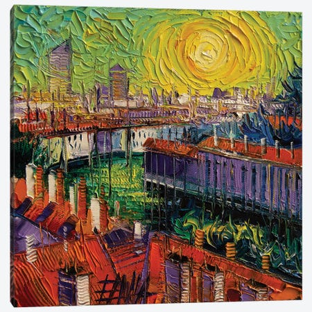 A Summer In Lyon Canvas Print #MGE1} by Mona Edulesco Canvas Artwork