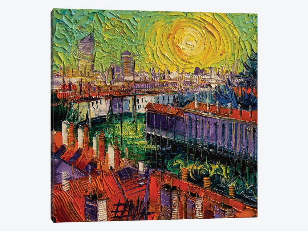 A Summer In Lyon by Mona Edulesco 1-piece Canvas Art Print