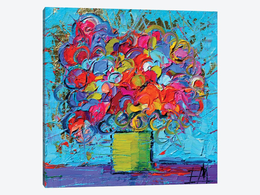 Floral Miniature by Mona Edulesco 1-piece Canvas Artwork