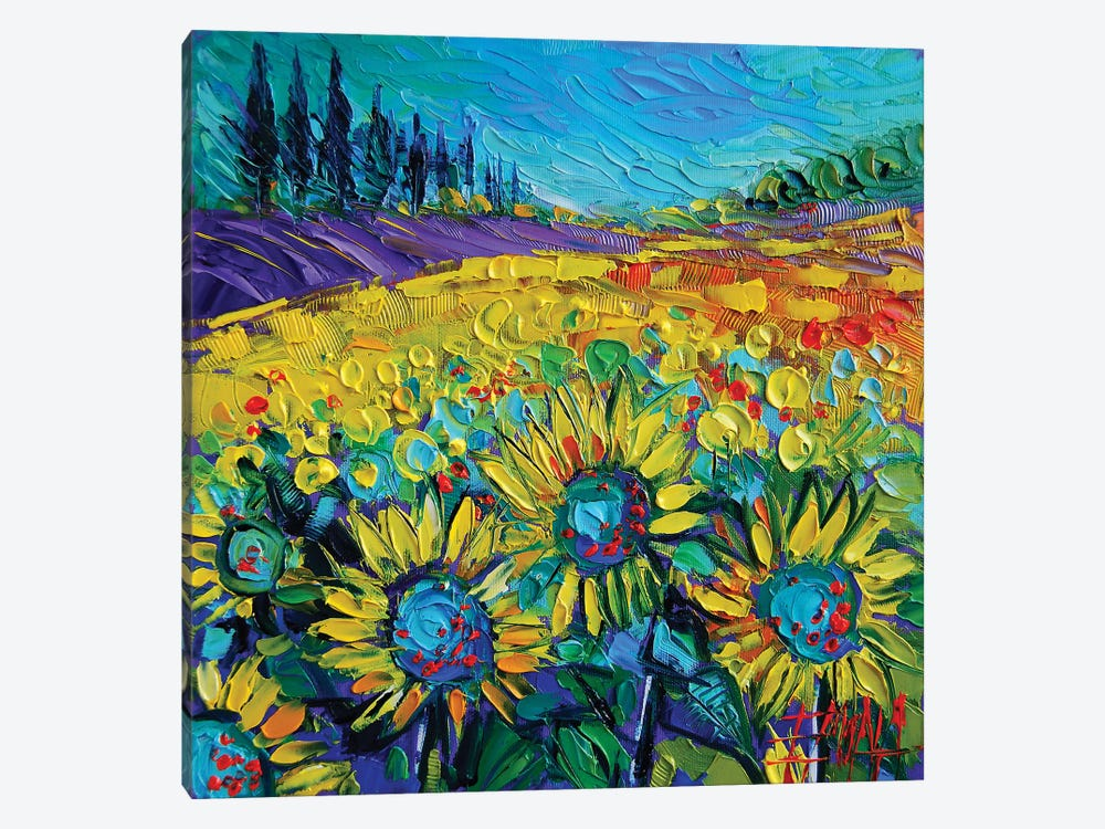 Happy Tournesols by Mona Edulesco 1-piece Canvas Print