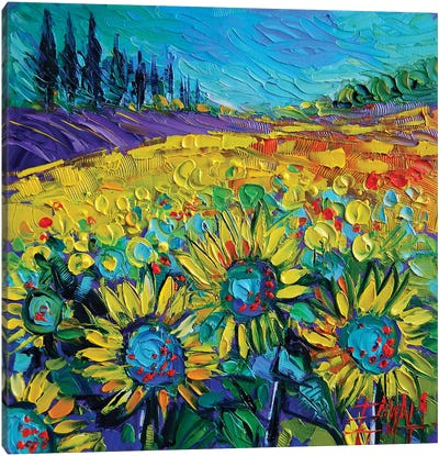 Happy Tournesols Canvas Art Print