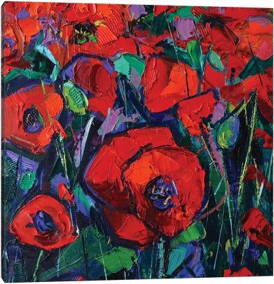 Hot Poppies Canvas Art Print