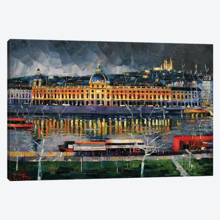 Hôtel-Dieu de Lyon Before The Storm Canvas Print #MGE26} by Mona Edulesco Canvas Print