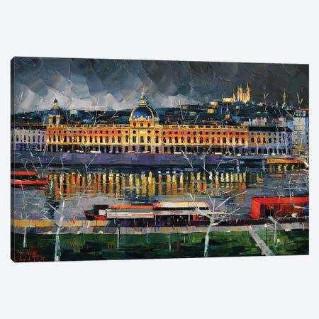 Hôtel-Dieu de Lyon Before The Storm 3-Piece Canvas #MGE26} by Mona Edulesco Canvas Print