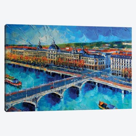 Hôtel-Dieu de Lyon I Canvas Print #MGE27} by Mona Edulesco Canvas Print