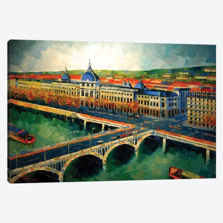 Hôtel-Dieu de Lyon II Canvas Print #MGE28} by Mona Edulesco Canvas Wall Art
