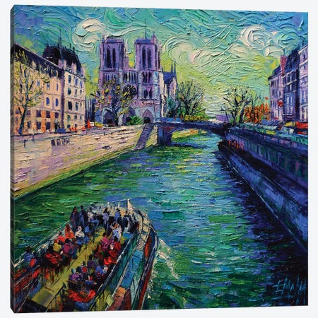 I Love Paris In The Springtime Canvas Print #MGE29} by Mona Edulesco Canvas Art