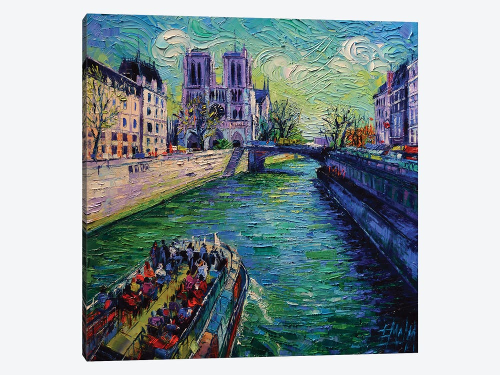 I Love Paris In The Springtime by Mona Edulesco 1-piece Canvas Artwork
