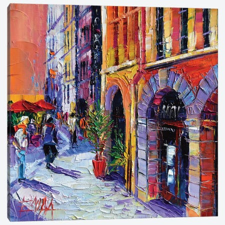 A Walk In Old Lyon Quarter Canvas Print #MGE2} by Mona Edulesco Canvas Art