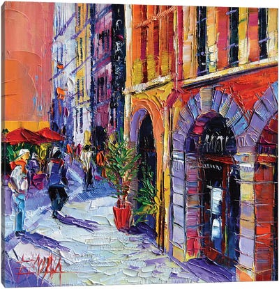 A Walk In Old Lyon Quarter Canvas Art Print