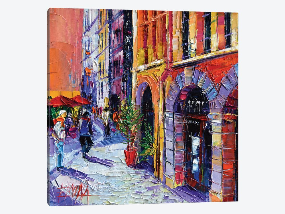A Walk In Old Lyon Quarter by Mona Edulesco 1-piece Canvas Wall Art