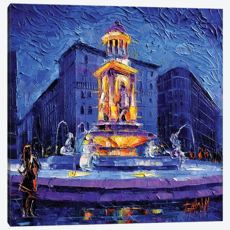 La Fontaine des Jacobins Canvas Print #MGE31} by Mona Edulesco Canvas Print