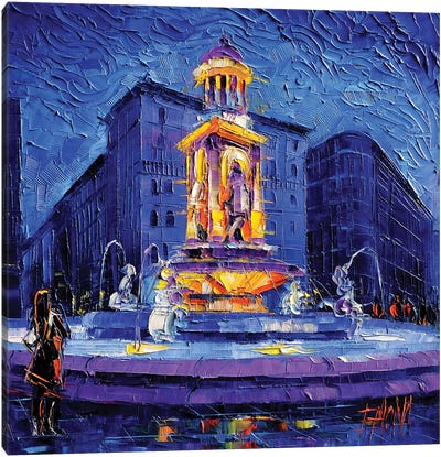 La Fontaine des Jacobins Canvas Art Print