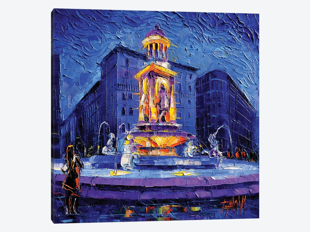 La Fontaine Des Jacobins by Mona Edulesco 1-piece Canvas Print