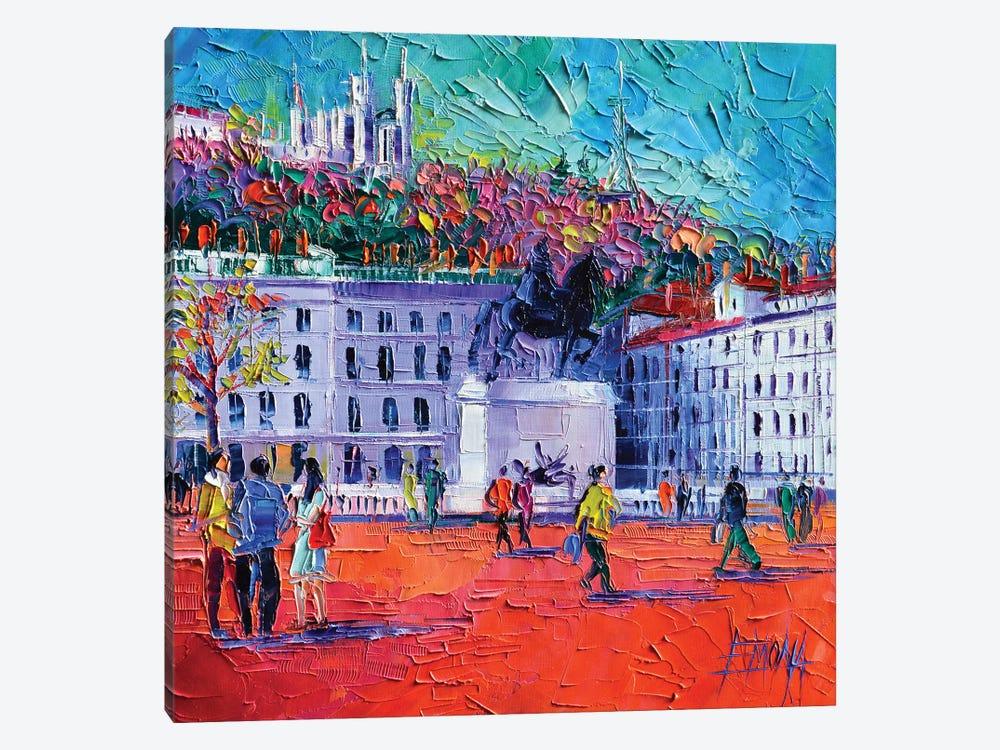 La Place Bellecour à Lyon by Mona Edulesco 1-piece Canvas Wall Art